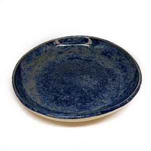 Pratos Sobremesa Avulsos - azul com efeito