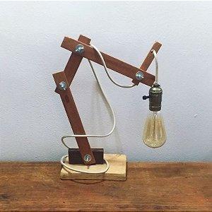 Luminária articulada fio bege
