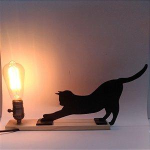 Luminária Gato espreguiçando