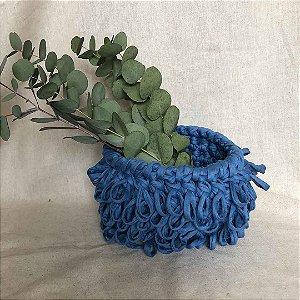 Cachepô loop azul