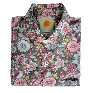 Camisa Elza Soares - cinza