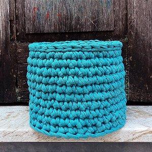Cachepô médio azul acinzentado
