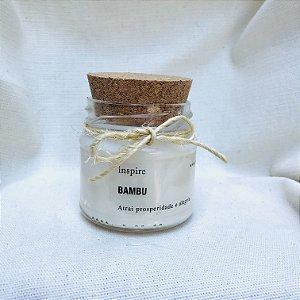 Vela perfumada Bambu com tampa de cortiça P
