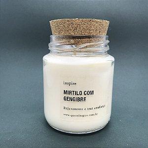 Vela perfumada de Mirtilo com Gengibre com tampa de cortiça M