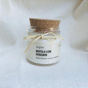 Vela perfumada de Mirtilo com Gengibre com tampa de cortiça P