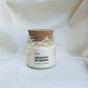 Vela perfumada de Jabuticaba com Noz Moscada com tampa de cortiça P