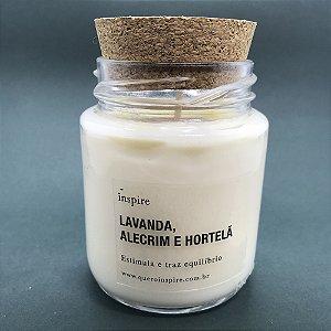 Vela perfumada de Lavanda, Alecrim e Hortelã com tampa de cortiça M