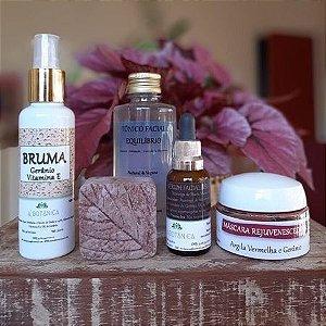 Kit A Botânica para peles sensíveis, maduras ou com rosácea