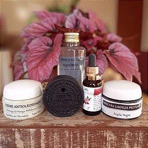 Kit A Botânica para peles acneicas, com manchas e marcas de acne