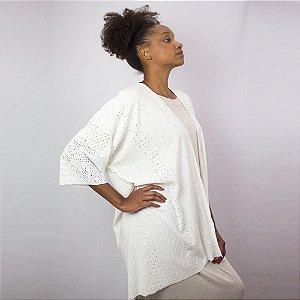 Kimono Laise Malha off white