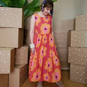 Vestido Floral Solto Midi