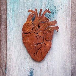 Coração de ferro recorte - parede - pequeno