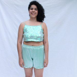 Short Metalizado Aqua