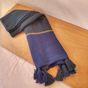 manta em tricô | azul petróleo (140x80cm)