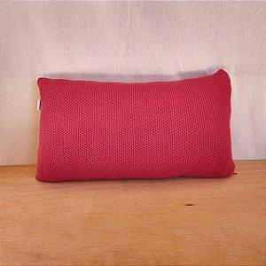 Capa de almofada em tricô | vermelho (50x25cm)
