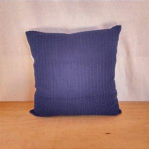Capa de almofada em tricô | azul escuro (40x40cm)