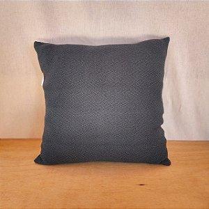 Capa de almofada em tricô | azul petróleo (40x40cm)