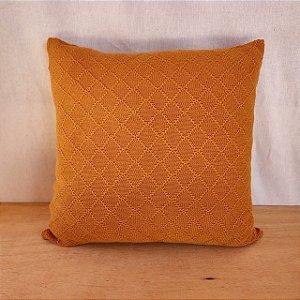 Capa de almofada em tricô | mostarda (40x40cm)