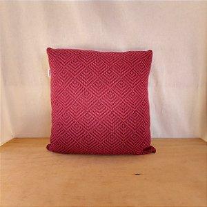 Capa de almofada em tricô |uva+vermelho (40x40cm)