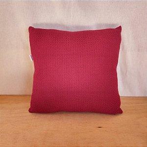 Capa de almofada em tricô |vermelho (40x40cm)