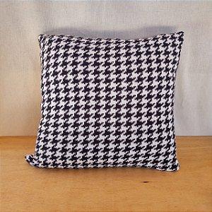 Capa de almofada em tricô |preto+branco (40x40cm)