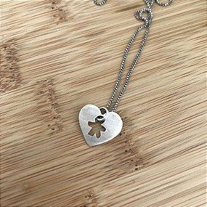 Colar Amuleto em Prata Amor de Mãe