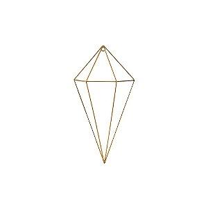Prisma Dourado em Metal 30 cm