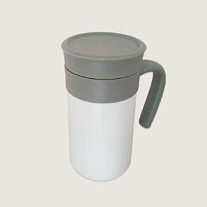 Garrafa Térmica Soft Branca com Peneira Inox