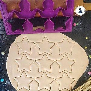 Placa Estrelas - 09 Cortadores de 6cm
