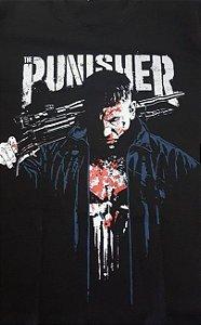 Camisa Camiseta T-shirt Punisher segurando arma - O Justiceiro
