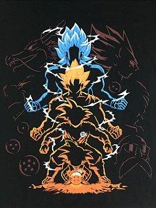 Camisa Camiseta T-shirt Goku Evolução - Dragon Ball Z