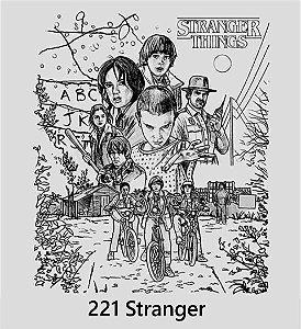 Camisa Camiseta T-shirt Stranger Things - Malha Cinza