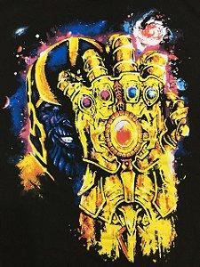 Camisa Camiseta T-shirt Thanos com a luva da pedras do infinito
