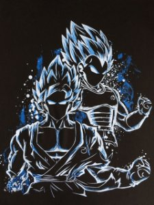 Camisa Camiseta T-shirt Goku e vegeta Dragon Ball super