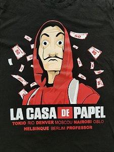Camisa Camiseta T-shirt La A Casa de Papel