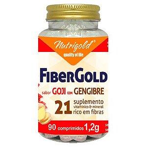 FiberGold - Goji com Gengibre - 90 Comprimidos