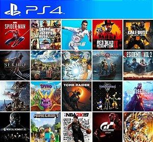 10 Jogos PS4 - Mídia Primária - PS4 PSN Mídia Digital