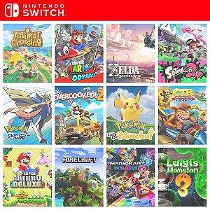 Combo Switch 2 Jogos da escolha - Nintendo Switch Mídia Digital