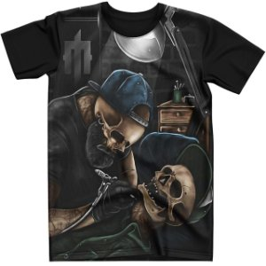 Stompy Camiseta Tattoo Tatuagem Skull Caveira 57