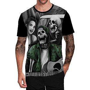 Stompy Camiseta Tattoo Tatuagem Skull Caveira 72