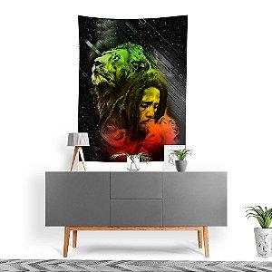 Stompy Tecido Decorativo Tactel Bob Marley