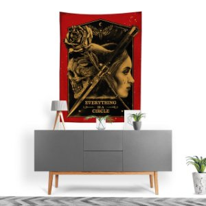 Stompy Tecido Decorativo Tactel Tattoo Poster