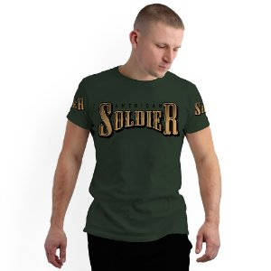 Stompy Camiseta Full Print Skull American Soldier