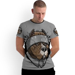 Stompy Camiseta Full Print Chicano Dog