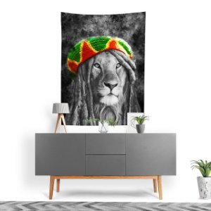 Stompy Tecido Decorativo Tactel Lion Reggae Music