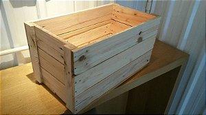 Caixa Quadrada Madeira Reciclada