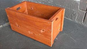 Caixa Quadrada - Cor Mogno