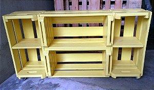 Rack com 4 caixotes (2 horizontal + 2 vertical)