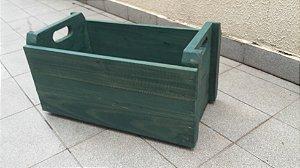 Caixote Madeira Nova - Verniz Verde