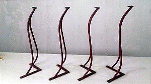 4 Haipin Legs Coloniais com 45cm de altura